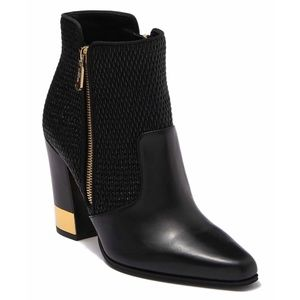 NEW Balmain Anthea Matelasse Leather Ankle Boots